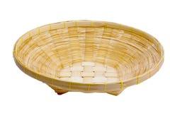 Bambu da cesta no isolado Imagem de Stock Royalty Free