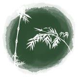 Bambu da gota da tinta ilustração stock