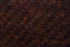 Bambu de vime do teste padrão fotografia de stock