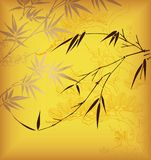 Bambu e flor ilustração do vetor