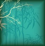 Bambu e flor Fotografia de Stock Royalty Free