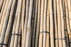 Bambu för konstruktionsmaterial Arkivfoto