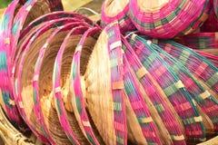 Bambu gjorde räkningen som visades i bangladeshi lokal mässa royaltyfri bild