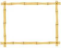 Bambu inramar Arkivbild