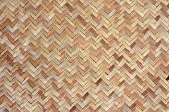 Bambu Mat Texture Royaltyfri Fotografi