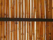 Bambu med metall Royaltyfri Fotografi