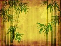 Bambu på gammal grungepapperstextur Arkivbild