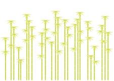 bambu silhouettes treen Arkivbild