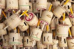 bambu som gasing Royaltyfri Fotografi