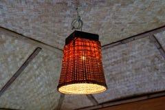 Bambu som väver lampan Royaltyfri Bild