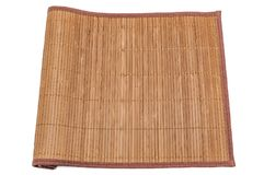 Bambu som var matt på vit bakgrund, närbild, stoppade på en sida isolerat royaltyfri fotografi