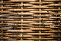 Bambu sujo do weave do Grunge Fotos de Stock