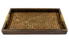 Bambu tailandês do estilo e bandeja de madeira Imagens de Stock