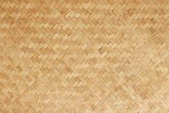 Bambu vävd plan matt naturlig bambubakgrund Fotografering för Bildbyråer