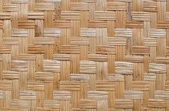 Bambu vävd textur Arkivfoton
