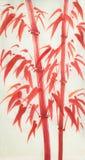 Bambu vermelho brilhante ilustração do vetor