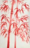 Bambu vermelho brilhante ilustração royalty free