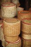 Bambubasketwork Arkivfoton