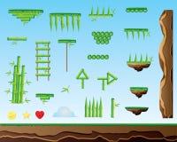 Bambubeståndsdelar för 2d lekar Arkivfoton
