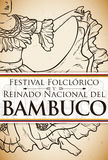 Bambuco`s Woman Dancer in Hand Drawn for Colombian Folkloric Festival, Vector Illustration Royalty Free Stock Photos