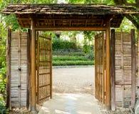 Bambudörr Arkivfoton