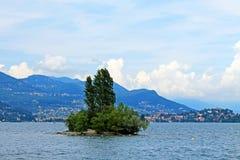 Bambudunge på ön av Isola Madre Italien royaltyfri fotografi