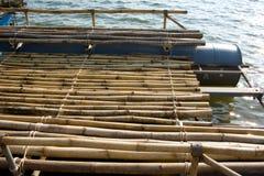 Bambuflotte. Royaltyfri Fotografi