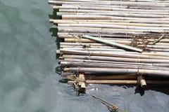 Bambuflotte royaltyfri fotografi