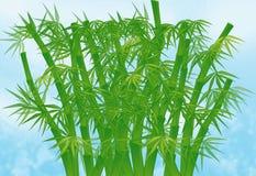 bambukinesillustration Arkivbilder