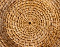 bambukorgtextur Royaltyfri Fotografi