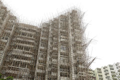 Bambumaterial till byggnadsställning Arkivbild
