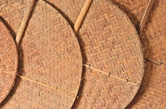 Bambumodell av fans Royaltyfri Bild