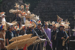 Bambumusik Arkivfoton