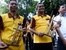 Bambumusik Royaltyfri Foto