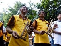 Bambumusik Royaltyfri Bild
