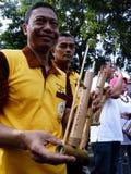 Bambumusik Arkivbild