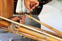 Bambuparaplyet Arkivfoto