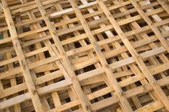 Bambupol för gjort staket Royaltyfri Foto