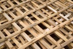 Bambupol för gjort staket Arkivfoton
