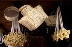Bambuprodukt i xinchang Fotografering för Bildbyråer
