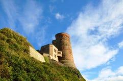 Bamburgh城堡在诺森伯兰角 免版税图库摄影