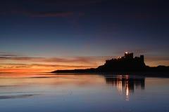 bamburgh κάστρο Στοκ φωτογραφία με δικαίωμα ελεύθερης χρήσης