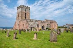 圣艾当的教会, Bamburgh 图库摄影