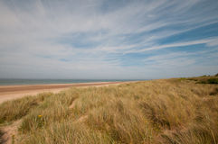 Bamburgh beach on Northumberland Coast Royalty Free Stock Photos