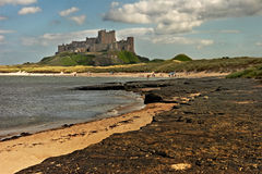 Bamburgh Castle. On the coast of Northumberland, England Royalty Free Stock Images