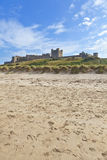 Bamburgh Castle. Bamburgh Castle in Northumberland, North East England Stock Images