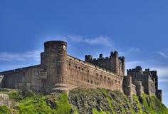 Bamburgh Castle. On the Northumberland coast, North East England Royalty Free Stock Photos