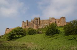 Bamburgh Castle. In Northumberland Stock Photography