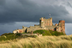 Bamburgh Castle. Bamburgh Castle from the south on the north East coast of Northumberland in the UK Royalty Free Stock Image