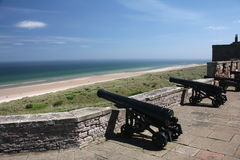 Bamburgh Castle Canons Royalty Free Stock Photography